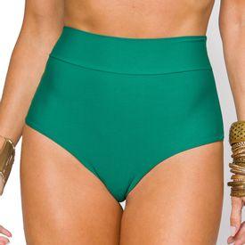 Hot Pant Fio Duplo com Cós Suco Verde