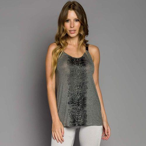 Camiseta Silk Detalhe Elástico Metalizado