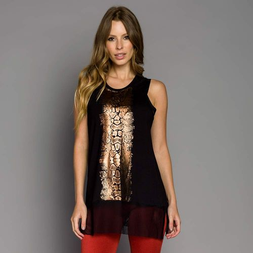 Camiseta Silk Recorte de Tela