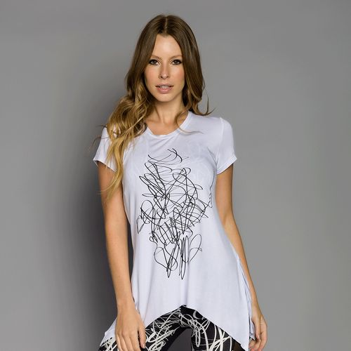 Blusa Malha Bambu com Silk